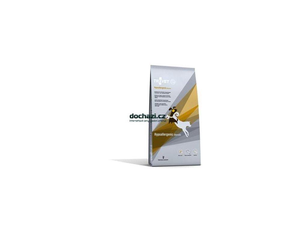 Trovet dog (dieta) Hypoallergenic Ostrich (pštros)3Kg