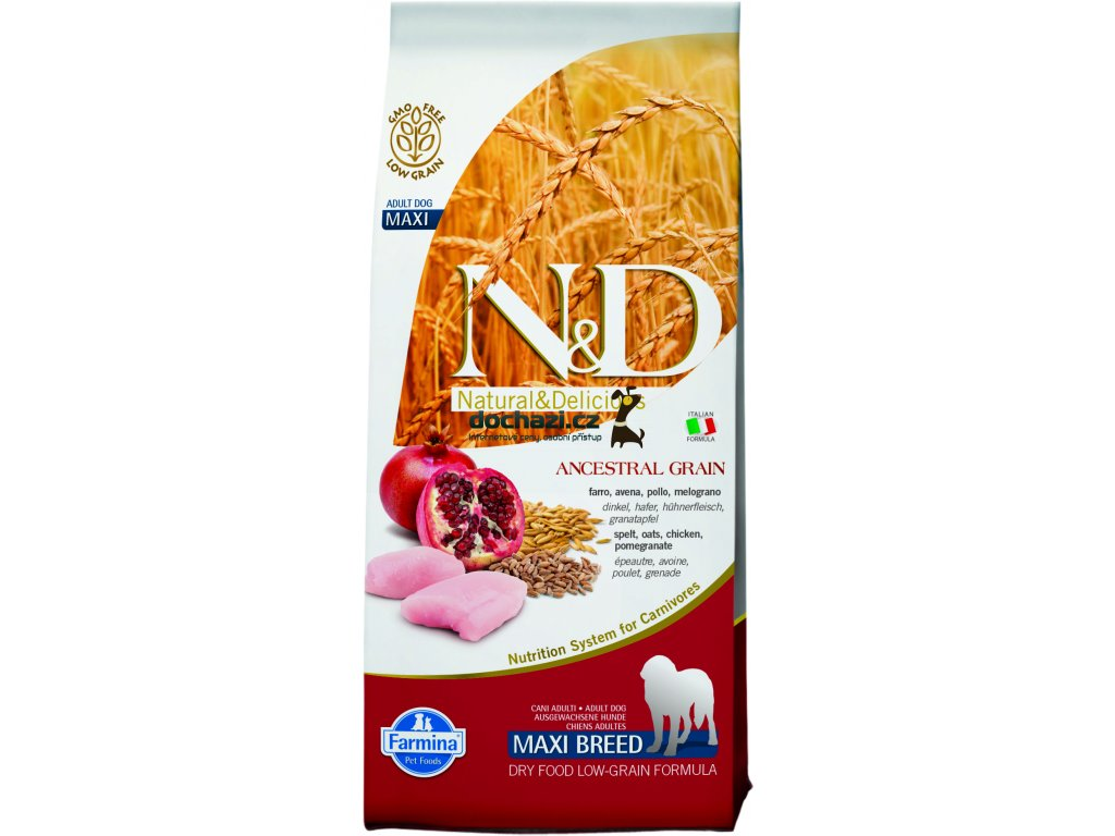 N&D Grain Free DOG Adult Maxi Chicken&Pomegranate 12Kg