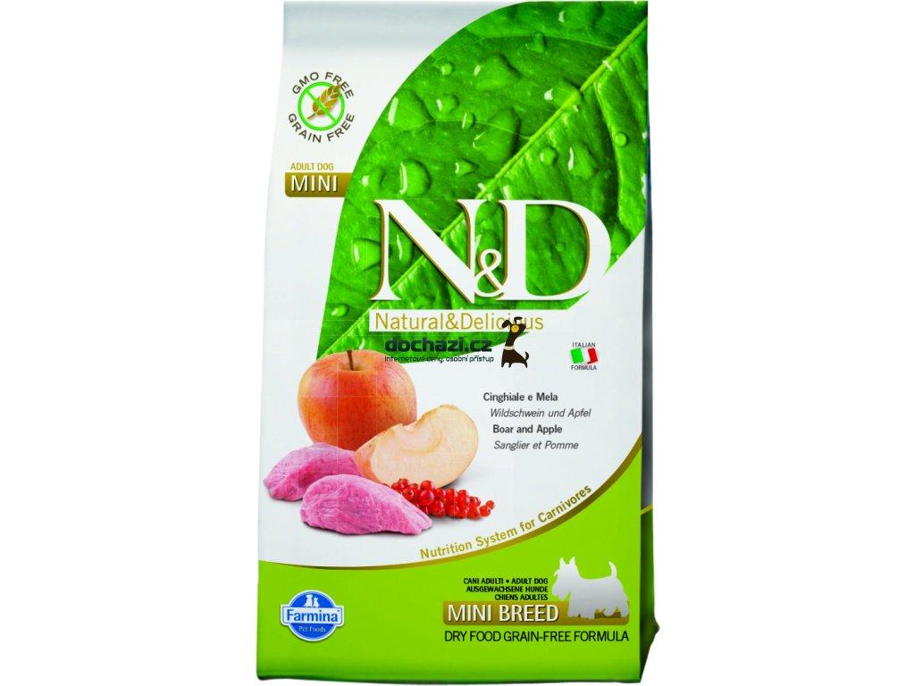 N&D Grain Free DOG Adult Mini Boar & Apple