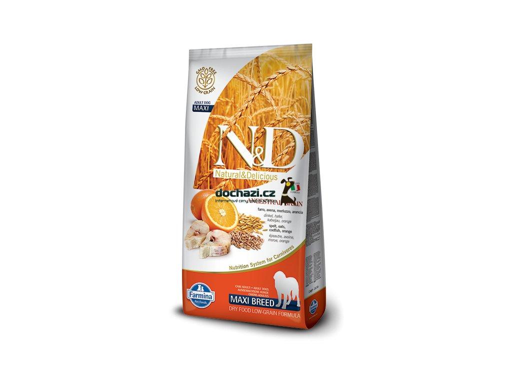 N&D Low Grain DOG Adult Maxi Codfish & Orange