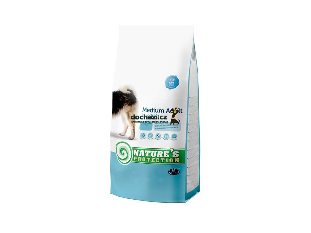 Nature's Protection Dog Dry Adult Medium 12Kg