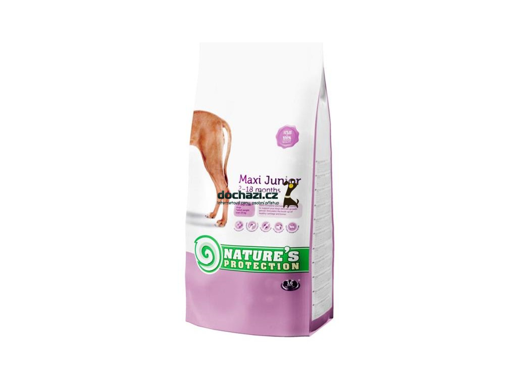Nature's Protection Dog Dry Junior Maxi 4Kg
