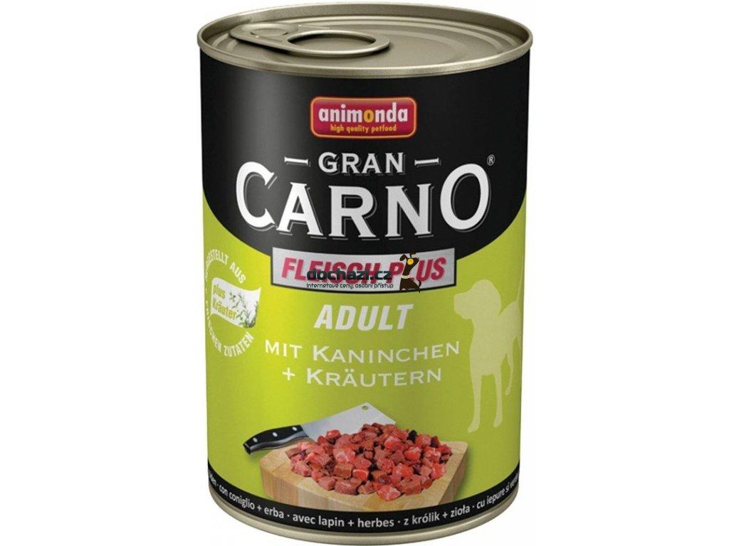 Animonda dog konzerva Gran Carno králík/bylinky