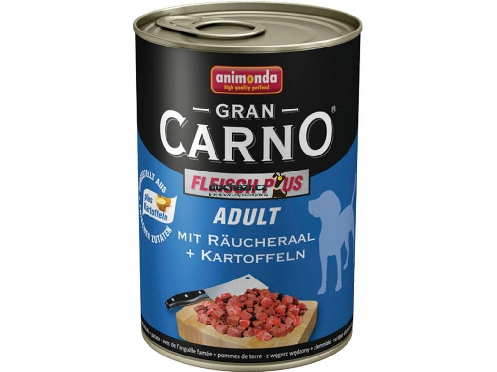 ANIMONDA dog konzerva Gran Carno uzený úhoř/brambory