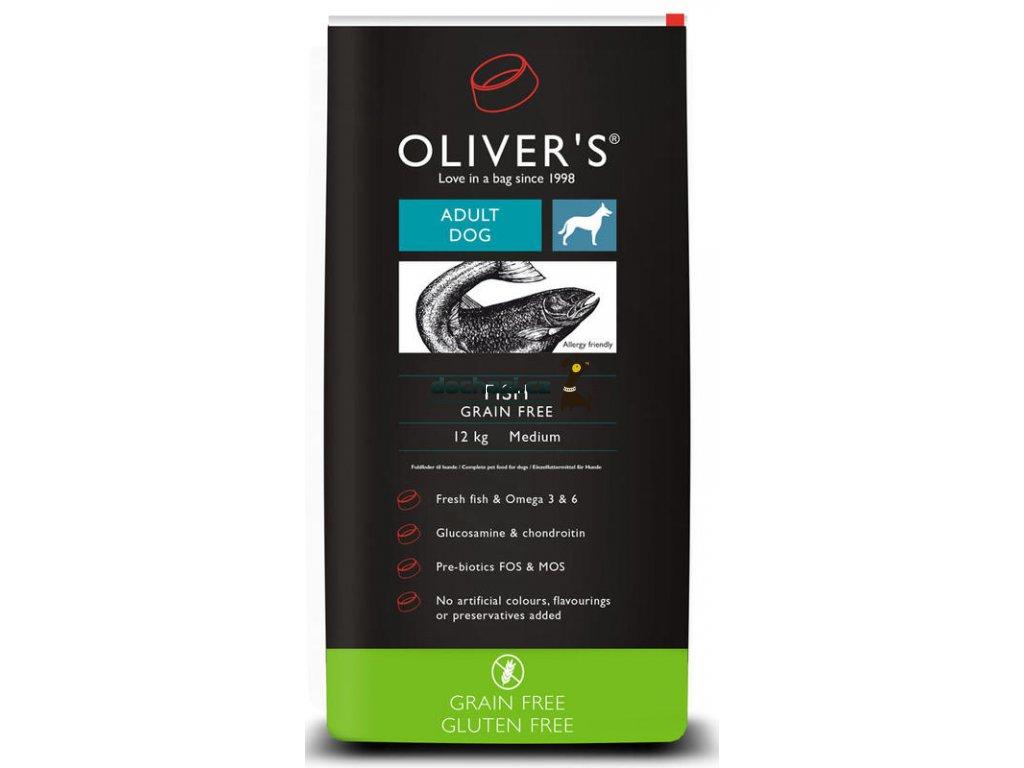 Olivers Adult Fish Grain Free medium 12 kg