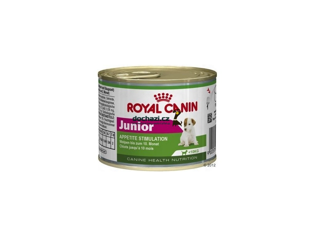 Royal Canin dog konzerva JUNIOR 195g
