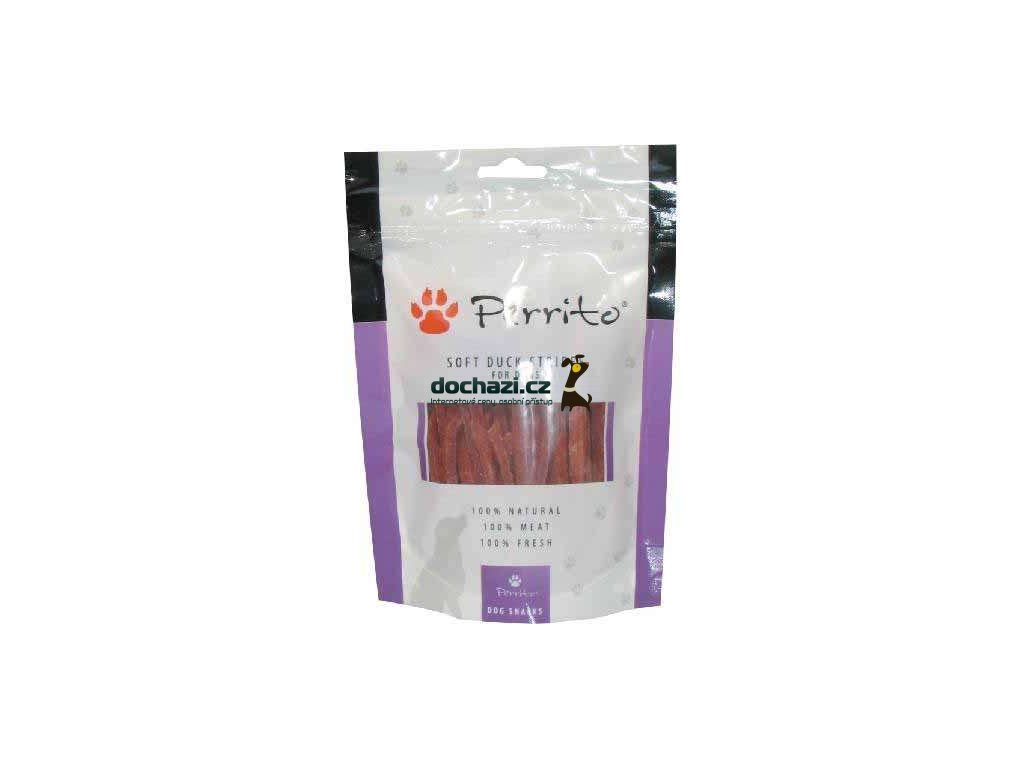 PERRITO dog DUCK STRIPES 100g