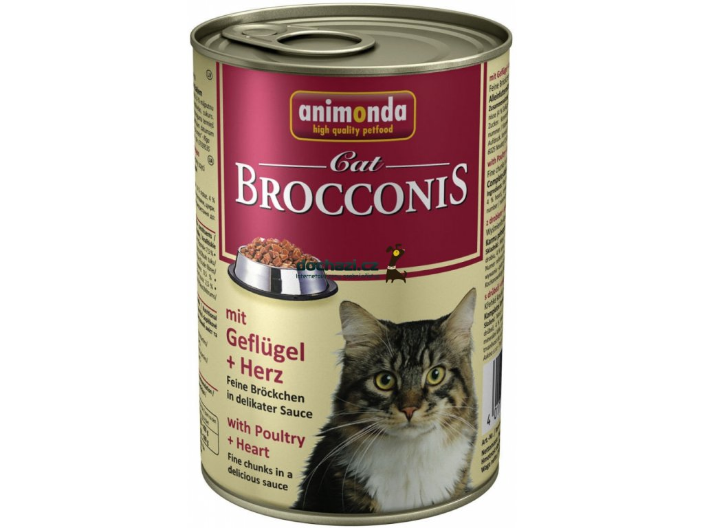 ANIMONDA cat konzerva BROCCONIS kuře/srdce
