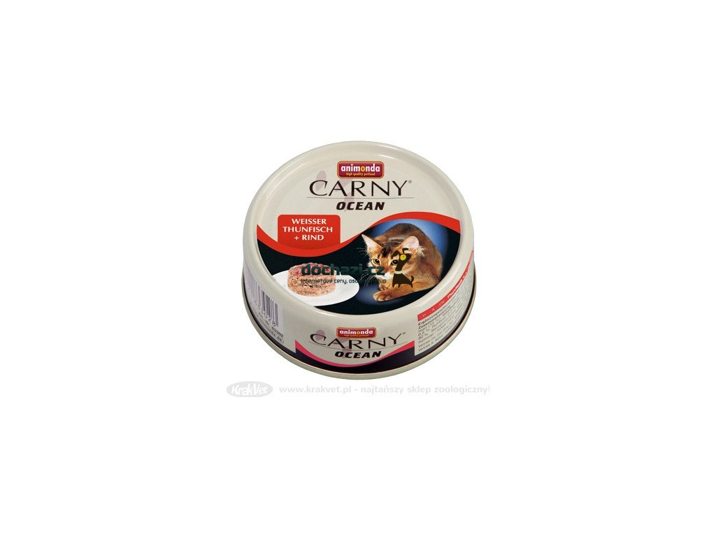 ANIMONDA cat konzerva CARNY OCEAN tuňák / hovězí maso 80 g