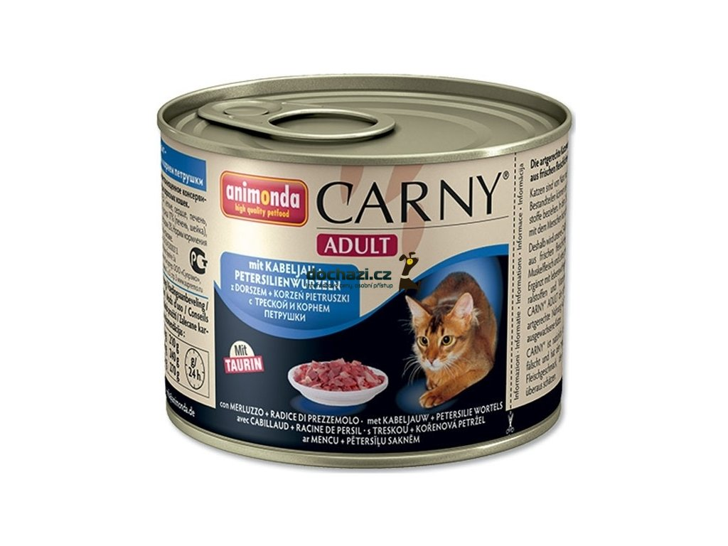 ANIMONDA cat konzerva CARNY treska/petržel