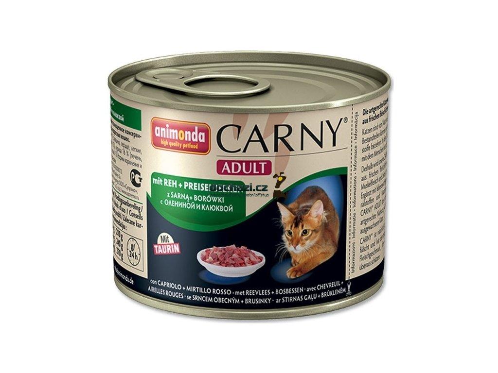 ANIMONDA cat konzerva CARNY srnčí/brusinky