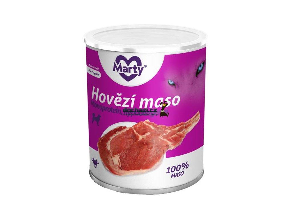 MARTY konz. pro psy - Monoprotein hovězí 800 g