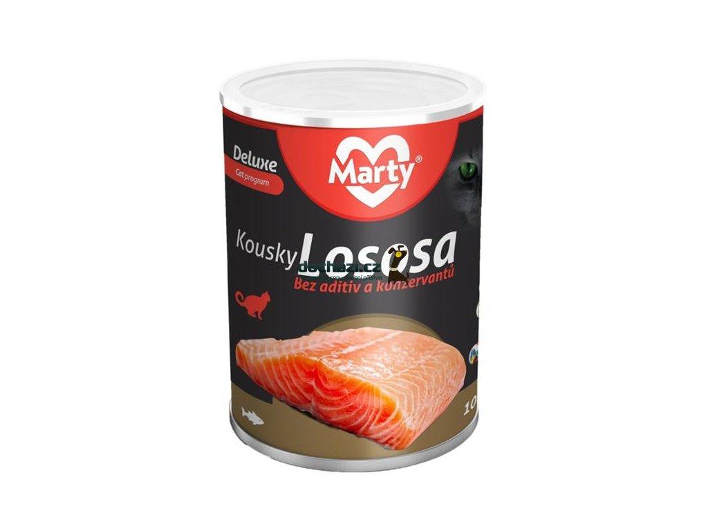 MARTY konz. pro kočky DeLuxe-kousky lososa 400 g