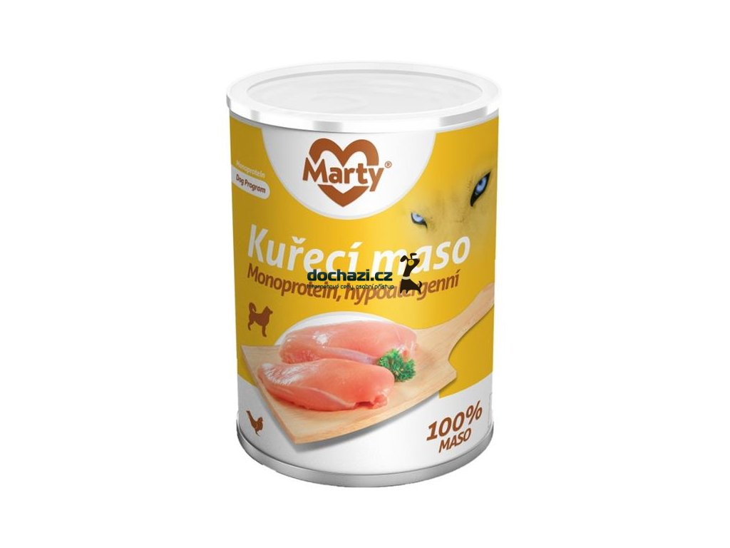 MARTY konz. pro psy - Monoprotein kuřecí 400 g