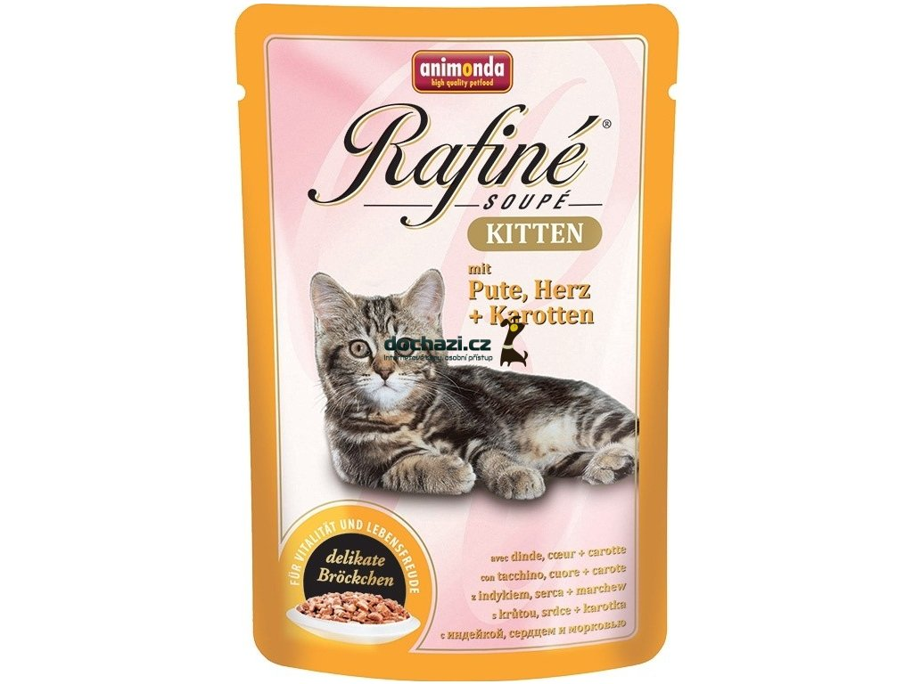 Animonda cat kapsa Rafiné Kitten krůtí srdce/karotka 100 g