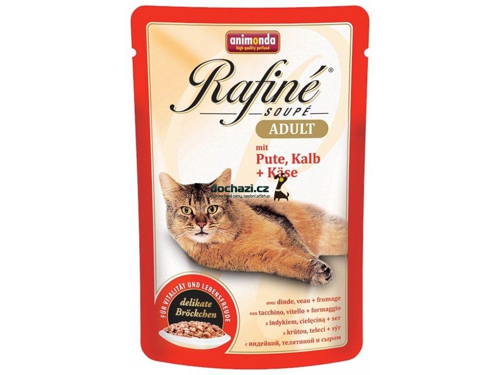 Animonda cat kapsa Rafiné krůta/telecí/sýr 100 g