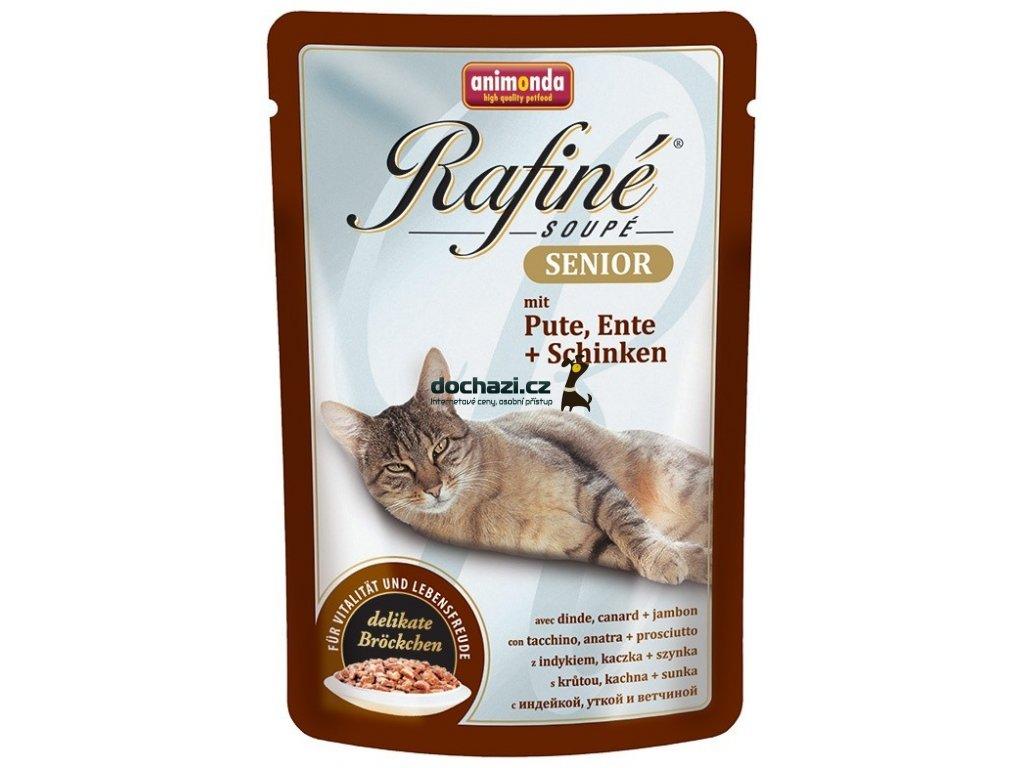 Animonda cat kapsa Rafiné Senior krůta/kachna/šunka 100 g