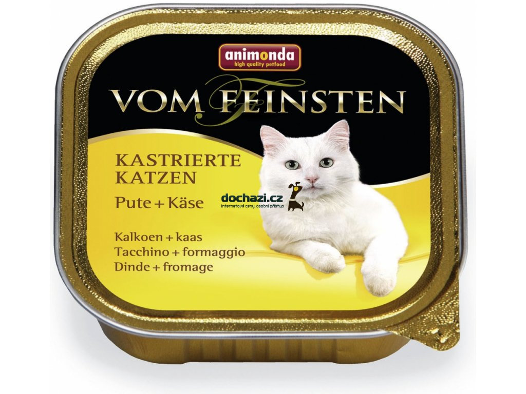 ANIMONDA cat paštika KASTROVANÁ kočka KRŮTA/SÝR 100 g