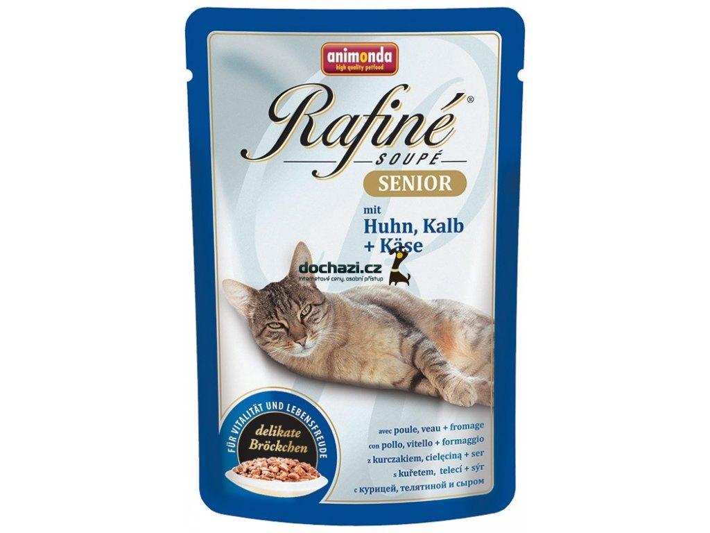 Animonda cat kapsa RAFINÉ SENIOR kuřecí/telecí 100 g