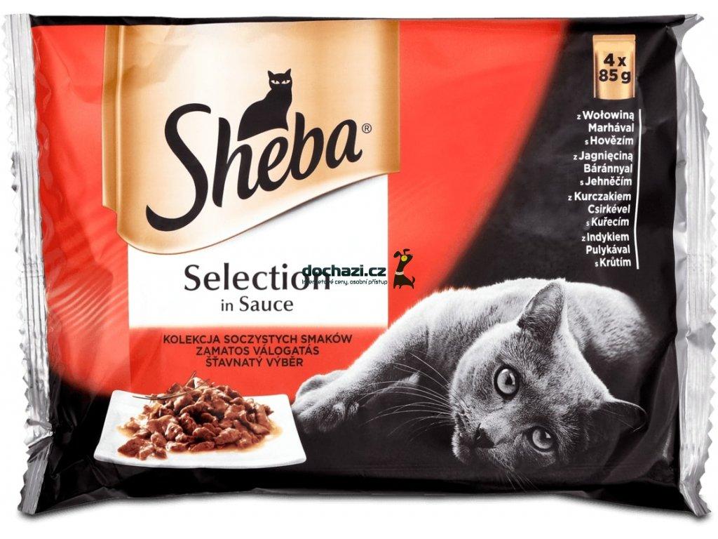 SHEBA kapsa SELECTION MASOVÉ menu VE ŠŤÁVĚ 4x85g