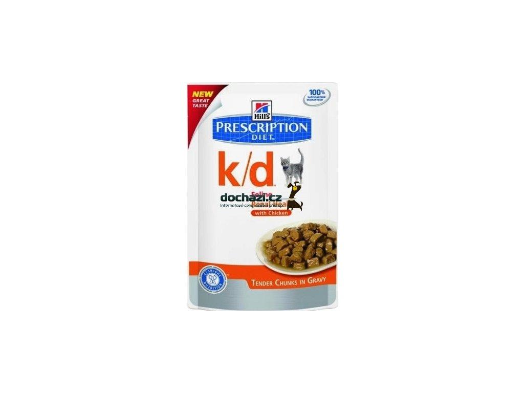 Hills cat k/d kapsa/chicken 85 g