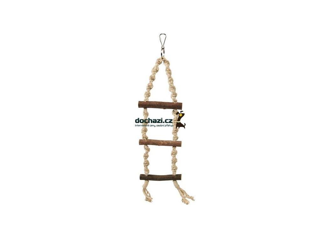 Trixie pták závěsný ŽEBŘÍK motouz+3 dřev.příčky 40cm