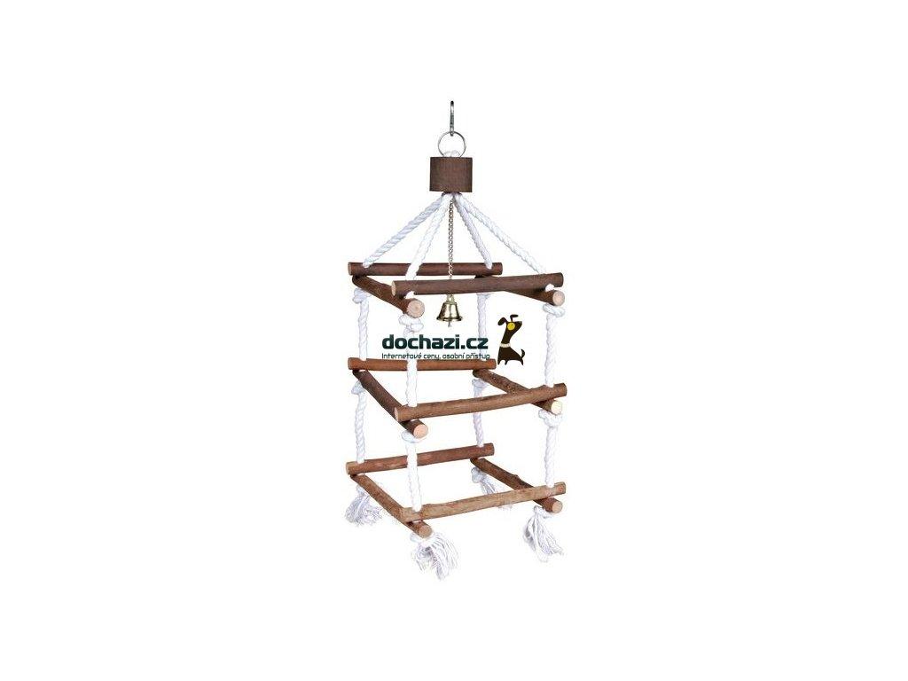 Hračka (trixie) ptáci věž se zvonkem velká 51cm