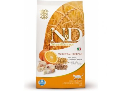 N&D Low Grain CAT Adult Codfish & Orange