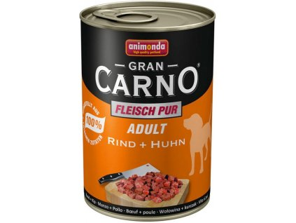 Animonda dog konzerva Gran Carno hovězí/kuře