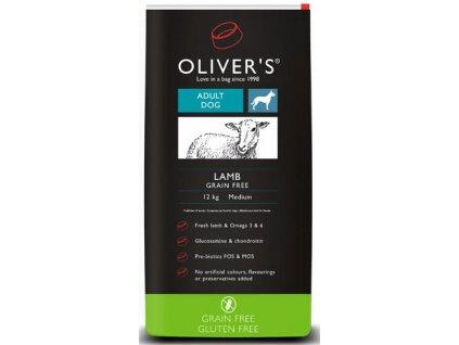 Olivers Adult Lamb Grain Free large 12 kg