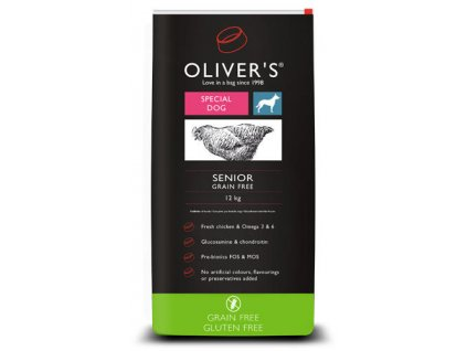 Olivers Senior Grain Free 12kg