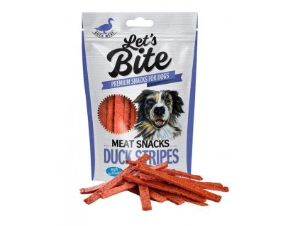 Brit Let´s Bite Stripe o´Duck NOVÝ 80 g