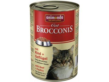 ANIMONDA cat konzerva BROCCONIS hovězí/drůbeží
