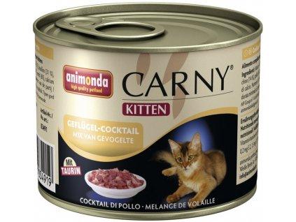 ANIMONDA cat konzerva Carny Kitten drůbeží koktejl 200 g