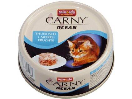ANIMONDA cat konzerva CARNY OCEAN tuňák/mořské plody 80 g