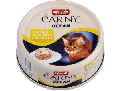 ANIMONDA cat konzerva CARNY OCEAN tuňák/křepelčí vejce 80 g