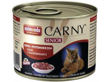 ANIMONDA cat konzerva CARNY hovězí/srdce