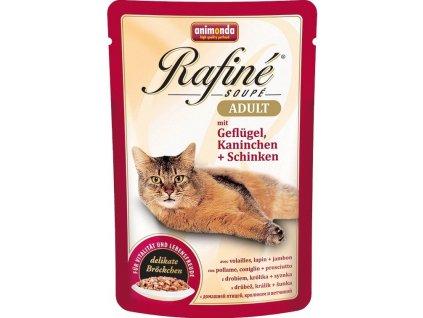 Animonda cat kapsa Rafiné drůbež/králík/šunka 100 g