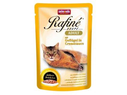 Animonda cat kapsa RAFINÉ drůbež v krémové omáčce 100 g