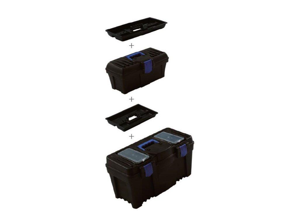 KP-1225SET - 2v1 plastový box s organizérem