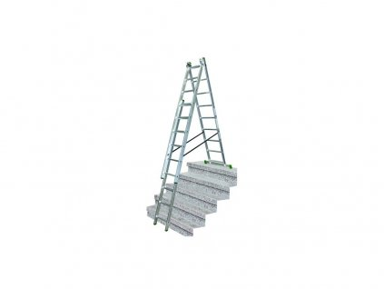 žebřík trojdílný 3x9 s úpravou na schody 250/390/530 cm 10.66-S-3-09-KR