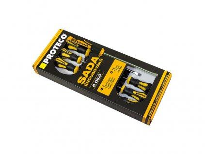 sada šroubováků 6-dílná (PL + PZ) v krabici 10.07-990-03
