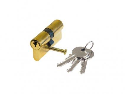 vložka stavební 30-35, 3 klíče + šroub mosaz
