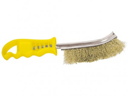 kartáč ruční jednořadý MsFe, žlutá plast.rukojeť 10.237-12