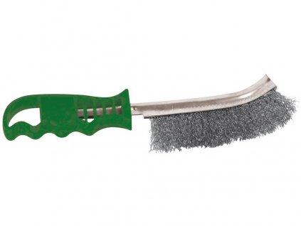 kartáč ruční jednořadý NEREZ, zelená plast.rukojeť 10.237-13