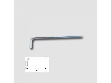 Klíč imbusový s kuličkou prodloužený S2 2,0mm
