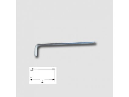 Klíč imbusový s kuličkou prodloužený S2 2,5mm