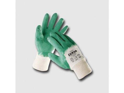 COOT rukavice máč. v zeleném latexu - 9 JA143510-09