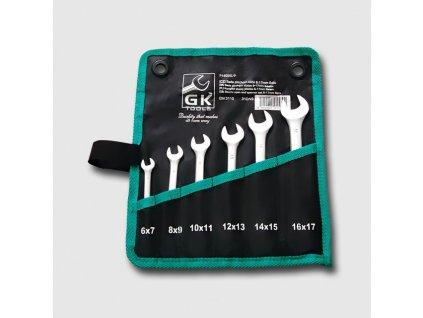 Sada  plochých klíčů 6-17 mm 6 dílů chrom-obal  P16020/P
