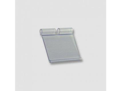 Cenovka plast na dvojháček P20027   50x35mm